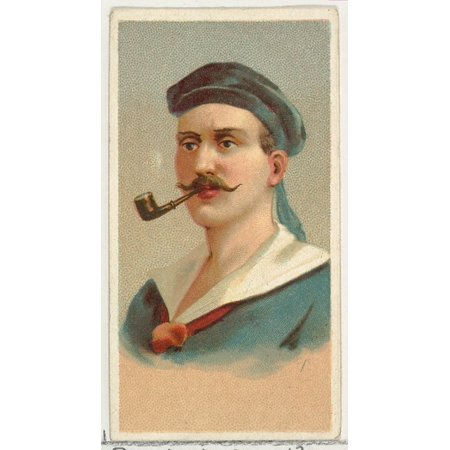 Sailor printers sample from Worlds Smokers series (N33) for Allen & Ginter Cigarettes Poster Print (18 x