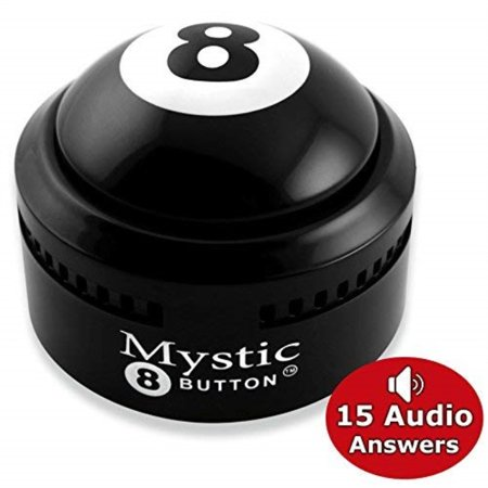 Novelty888 Mystic 8 Button - 15 Different Audio Answers Ask a YES or NO Question | New Generation of Traditional Magic 8 Ball - - Mini Magic 8 Ball