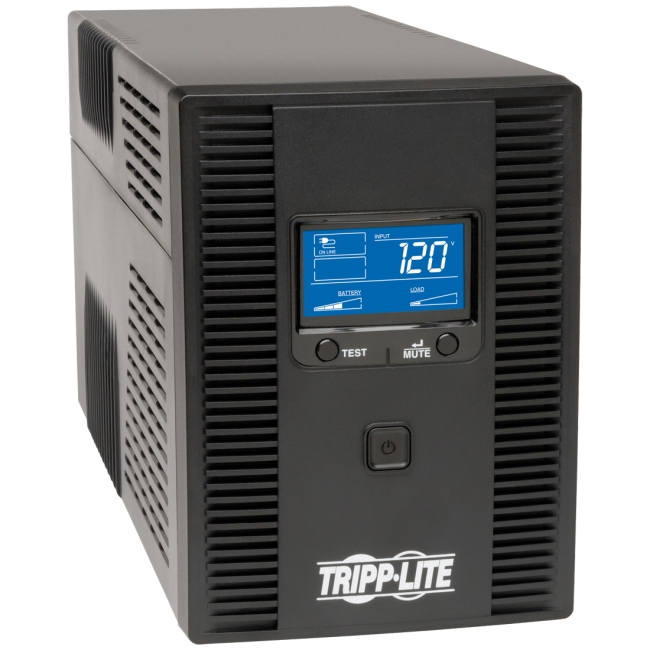 Tripp Lite 1500VA UPS Battery Backup, AVR, LCD, Line Interactive, 10 Outlets, 120V, USB, TEL & Coax Protection (OMNI1500LCDT)