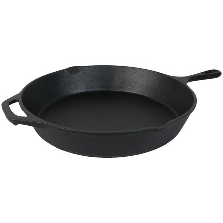 Iron Plan - Sunnydaze Cast Iron Skillet, Fry Pan, Pre-Seasoned, 12-Inch