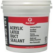 Red Devil RD-DS 181 0.5 Gal. Acrylic Latex Duct Sealant, Gray 0841DS