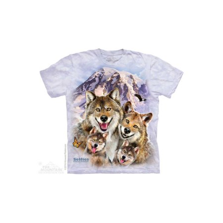 Boys Wolf (The Mountain Wolf Selfie - Ch Big Boys T-Shirt Tee )