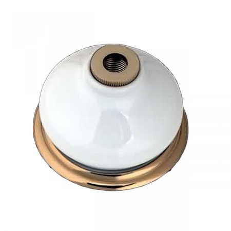 Brass Porcelain Bell For Widespread Faucet Replacement (Porcelain Cameo Brass)