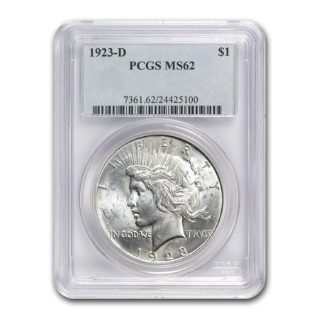 1923-D Peace Dollar MS-62 PCGS