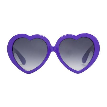 418e52bc2a Gravity - Lolita Large Lens Love Heart Shaped Sunglasses - Walmart.com