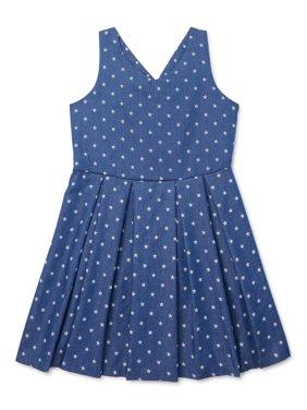 Marmellata Girls Sleeveless Star Print Denim Dress, Sizes 7-16
