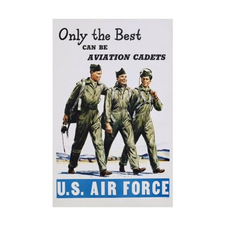 Only the Best Can Be Aviation Cadets Recruitment Poster Print Wall Art