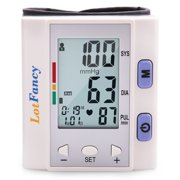 Wrist Blood Pressure Monitor Cuff - Automatic Digital BP Machine with Irregular Heartbeat Detector - Portable for 4 User Home Use, FDA Approved