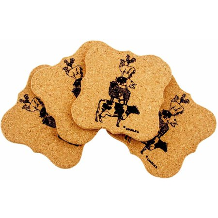 Farm Coasters (Urban Farm Shaped Cork Coasters, Set of 4, Stacked Animals )