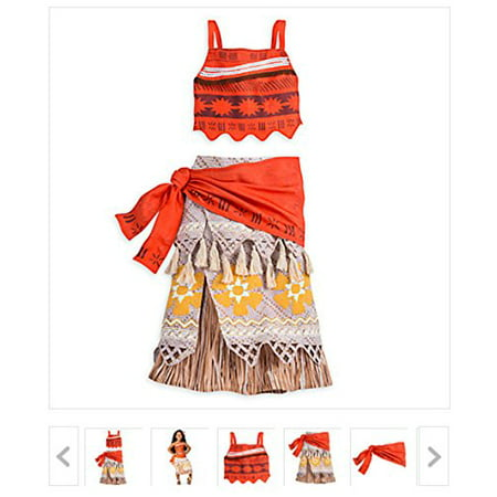 NEW Disney Store Moana Costume for Girls - size 7/8 - Halloween Mania