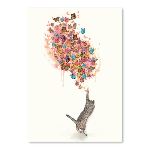 East Urban Home 'Catching Butterflies' Graphic Art Print