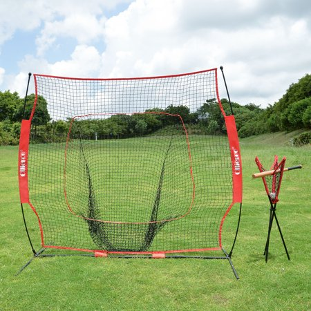 Ollieroo Portable Batting Practice Ball Caddy for 7x7 Baseball, Softball Practice Net (NET & FRAME Sold Separately), Includes Carry (Best Baseballs For Batting Practice)