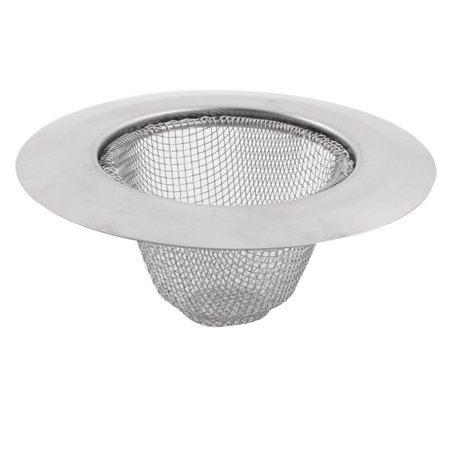 Unique Bargains 9cm Dia Home Kitchen Stainless Steel Round Basket Sink Strainer Mesh - image 3 de 3