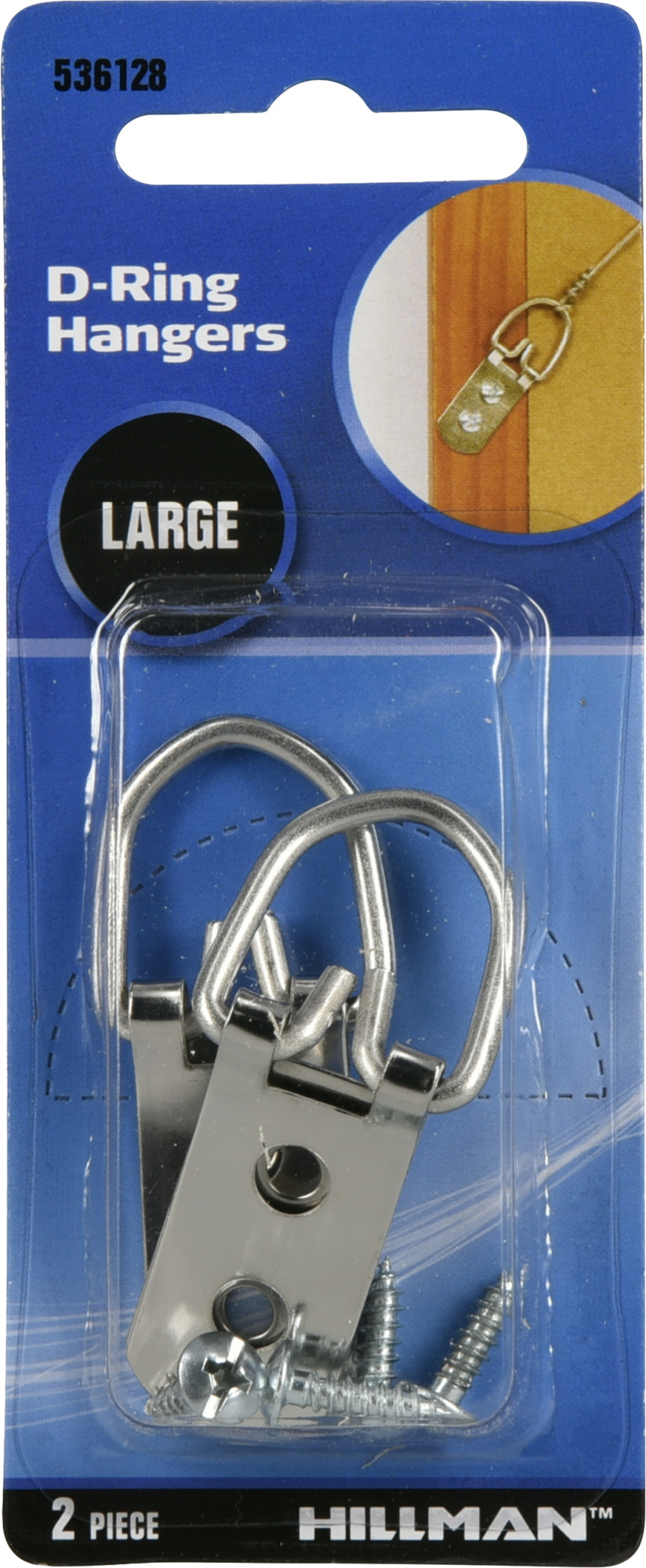 Details about  /2x Hillman Large D-ring Wall Hangers 6pcs Ea Picture Art Wall Mount Frame