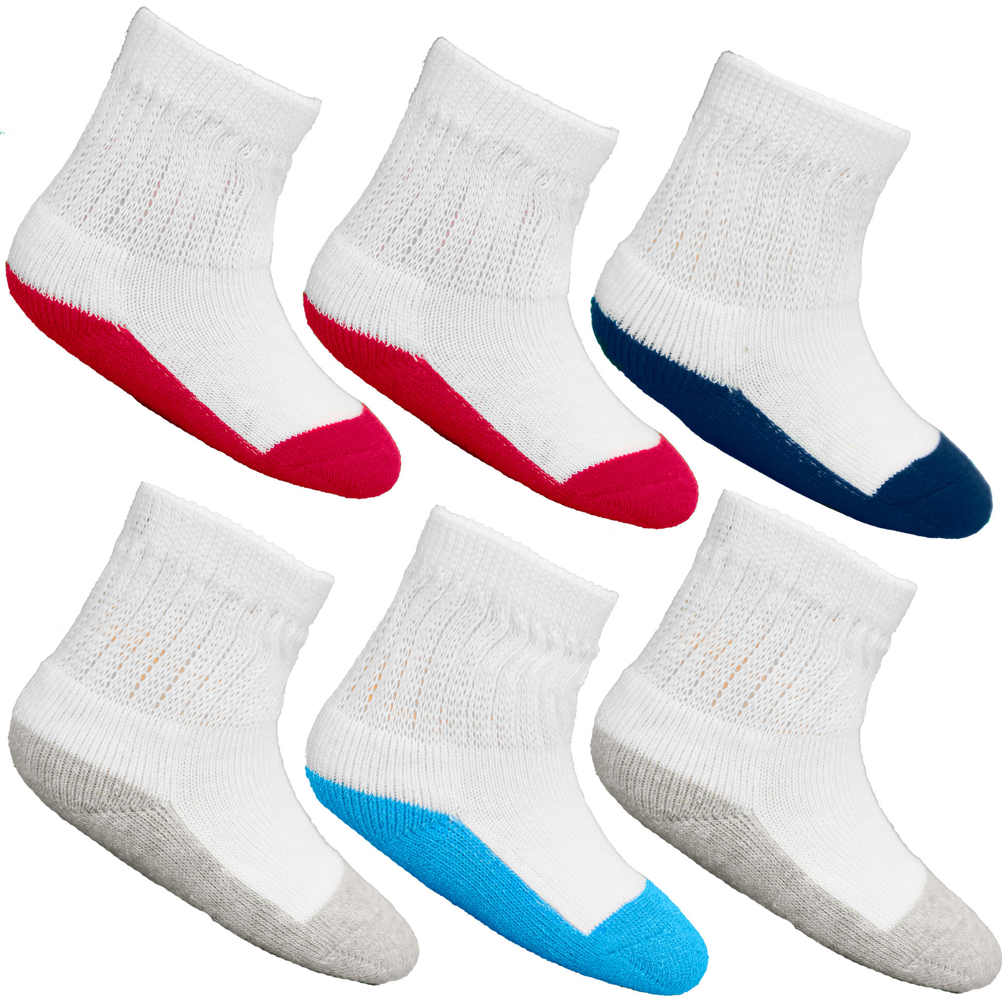 Fruit of the Loom Value Pack Baby Boys Crew Socks - 6 Pairs