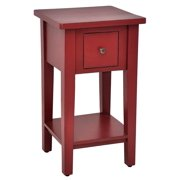 Square Side Table in Bali Red Finish