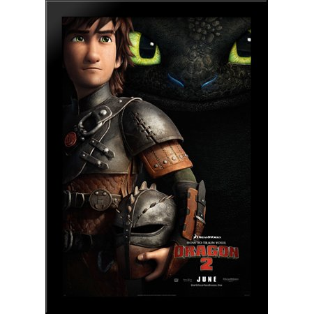 How to Train Your Dragon 2 28x40 Large Black Wood Framed Print Movie Poster Art 2 Large Framed Print