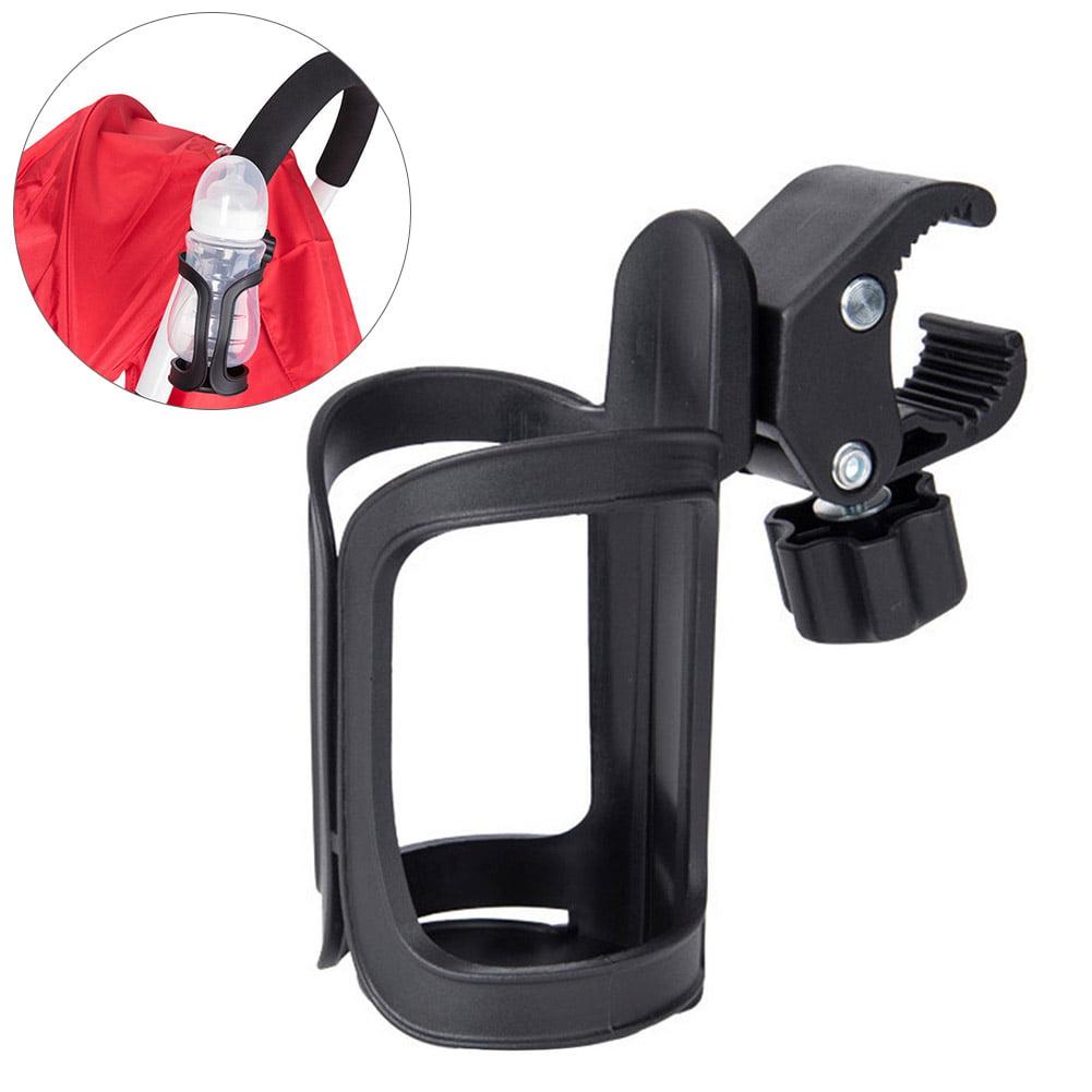 Black Qiilu Motorcycle Motorbike Drink Cup Holder Water Beverage Support Handlebar Bottle Adapter