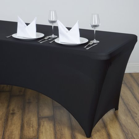 balsacircle 8 feet rectangular spandex fitted elastic tablecloth wedding party trade show booth. Black Bedroom Furniture Sets. Home Design Ideas