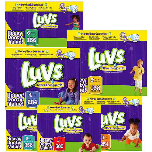Luvs - Diapers (Choose Your Size) - Walmart.com