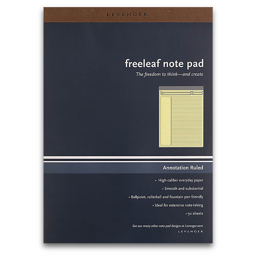Levenger Freeleaf Yellow Annotation Ruled Pads, Letter (5)