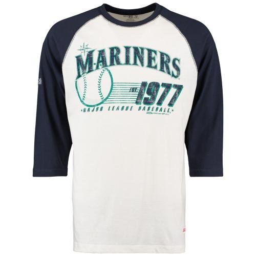 Seattle Mariners Stitches 3/4-Sleeve Raglan T-Shirt - Cream