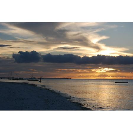 LAMINATED POSTER Sunset Seascape Beach Ocean Zanzibar Sea Water Poster Print 24 x 36 (Zanzibar Set)