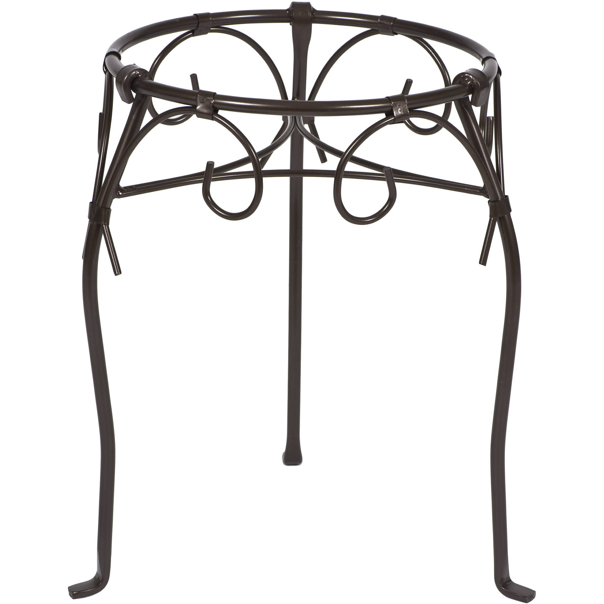 "CobraCo Kingston 21"" Bronze Scroll-Style Plant Stand"