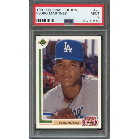 - 1991 upper deck final edition #2f PEDRO MARTINEZ boston red sox rookie PSA 9