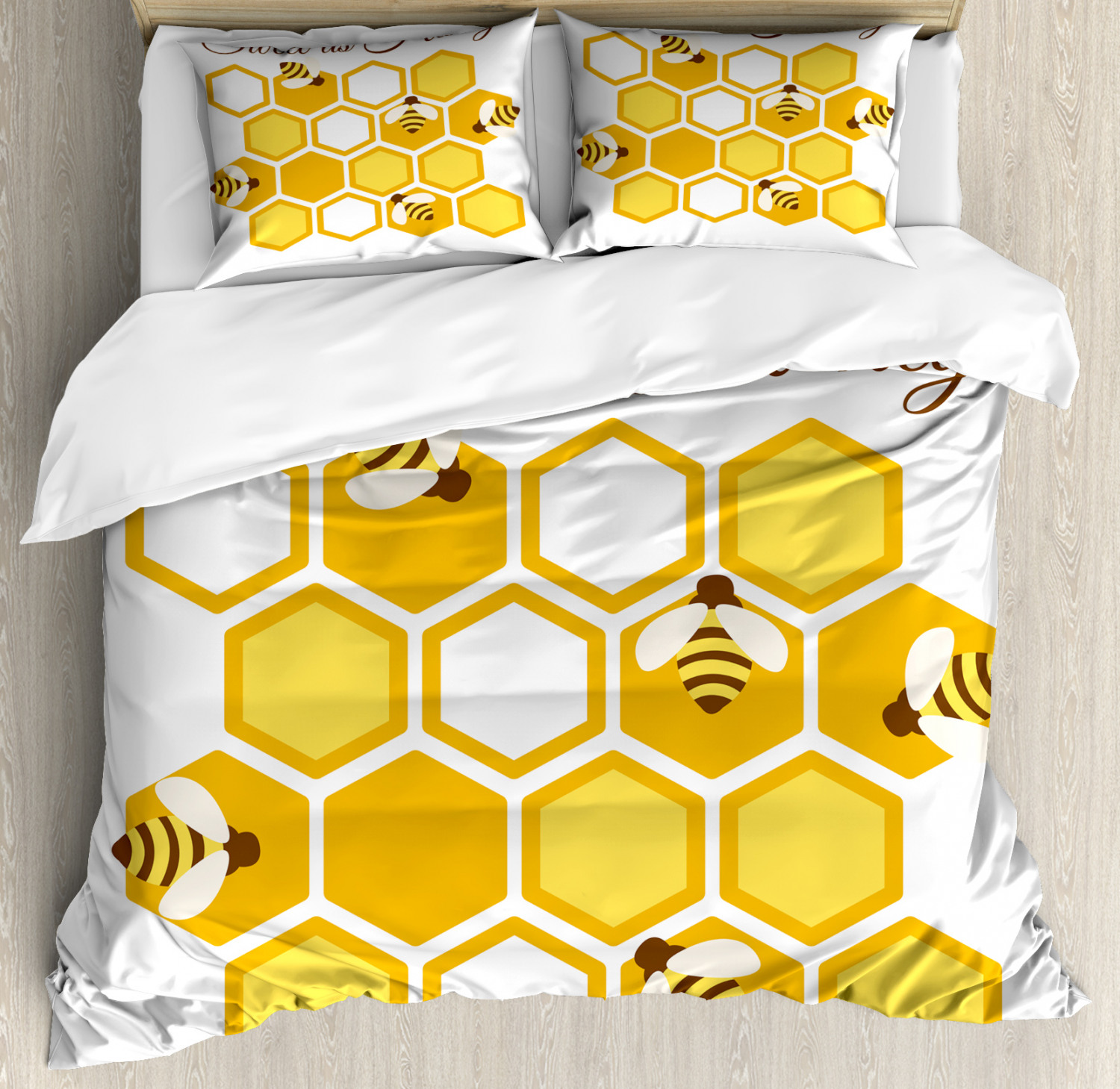 decorative pillows bedding bee hive honey cushion cover
