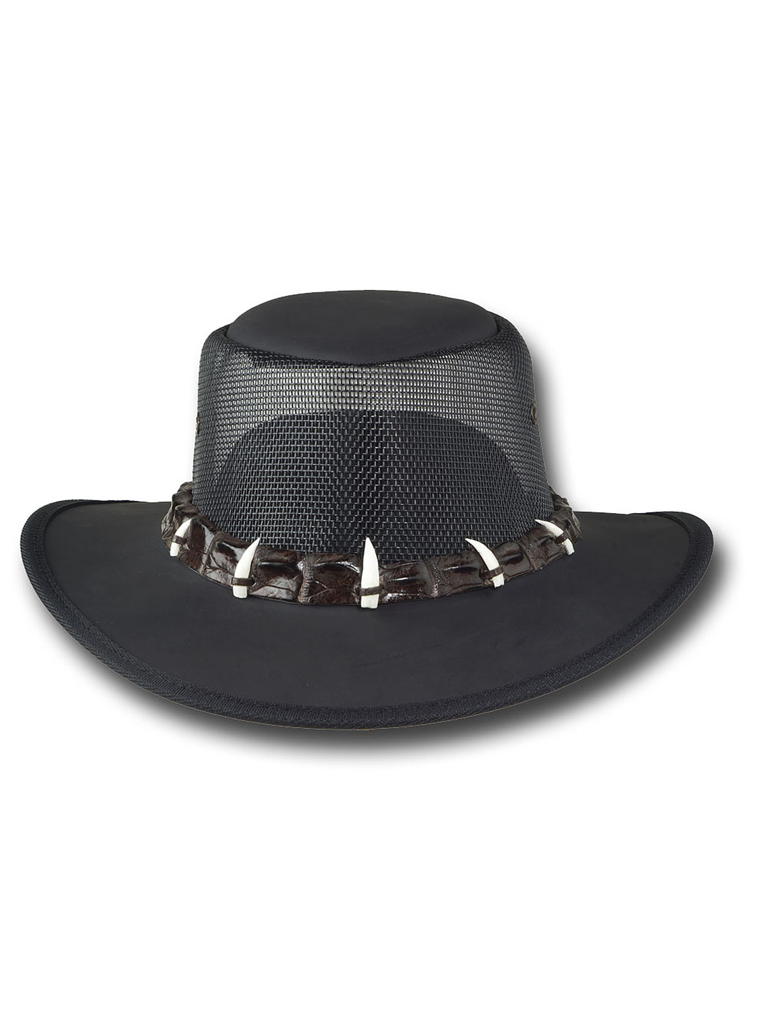 Barmah Hats Outback Crocodile Cooler Leather Hat - Item 1033