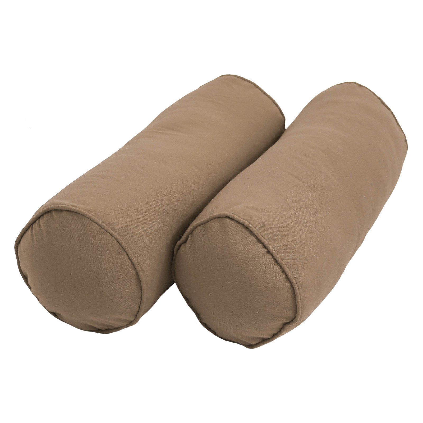 blazing needles twill bolster pillows with cording and inserts set of 2