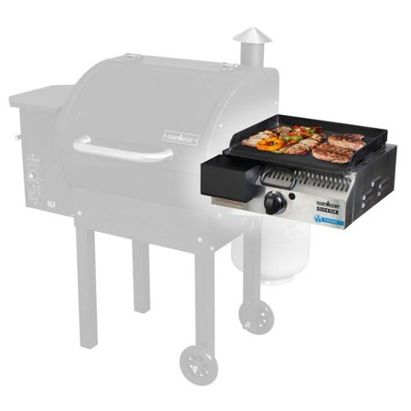 """Camp Chef Sidekick - Single 14"""" Propane Side Burner Accessory for Pellet Grill with Griddle"""