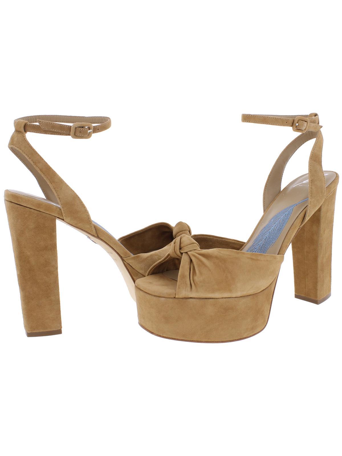 B Brian Atwood Womens Gabby Chunky Heel Square Toe Platform Sandals