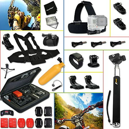 Complete ACCESSORIES KIT for GoPro HERO4 Session HERO4 Hero 4, Hero3+ Hero 3+, HERO3 Hero 3, HERO2 Hero 2, Hero 3 Black / Silver Edition, Hero2 Outdoor Edition Hero 960 and ALL GoPro HERO (Best Deal On Gopro Hero 4)