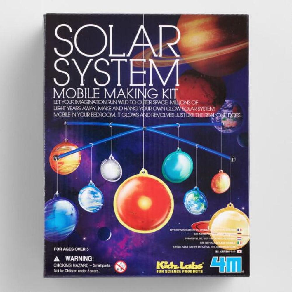 4M Glow in the Dark Solar System Mobile Making Kit