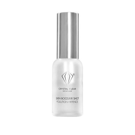 Crystal Clear Pollution Defense Skin Booster - Anti-Aging Facial Serum with Hyaluronic Acid and Vitamin C (30 mL)
