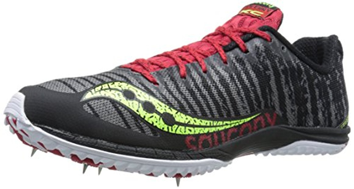 Saucony Men's Kilkenny XC5 Flat Cross Country Racing Shoe, 12.5 M US, Black Citron Red by