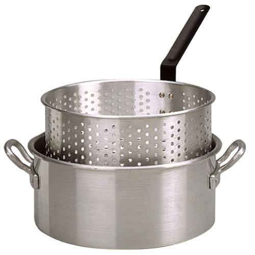 King Kooker #KK2-10 Qt. Alum Fry Pan/Basket -2 Helper Handle - KK2