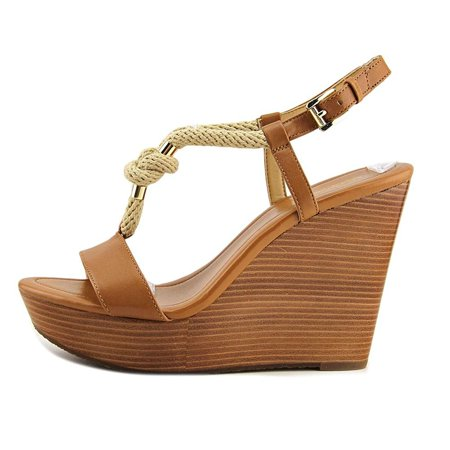 730d31537a0 MICHAEL Michael Kors Womens Holly Platform Leather Open Toe Casual Platform  S...