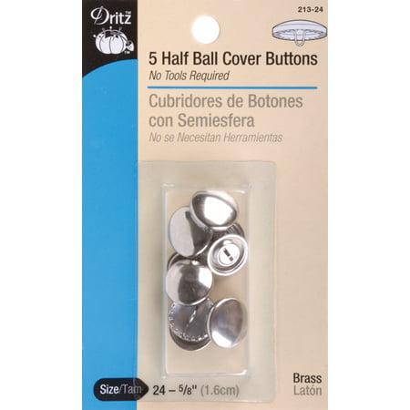 Dritz Half Ball Buttons - Dritz Half-Ball Cover Buttons 2-1/2