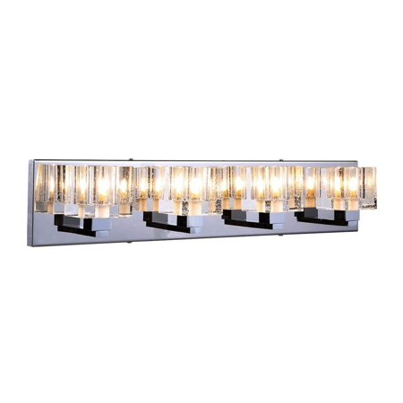 4-Light Wall Sconce in Chrome Finish