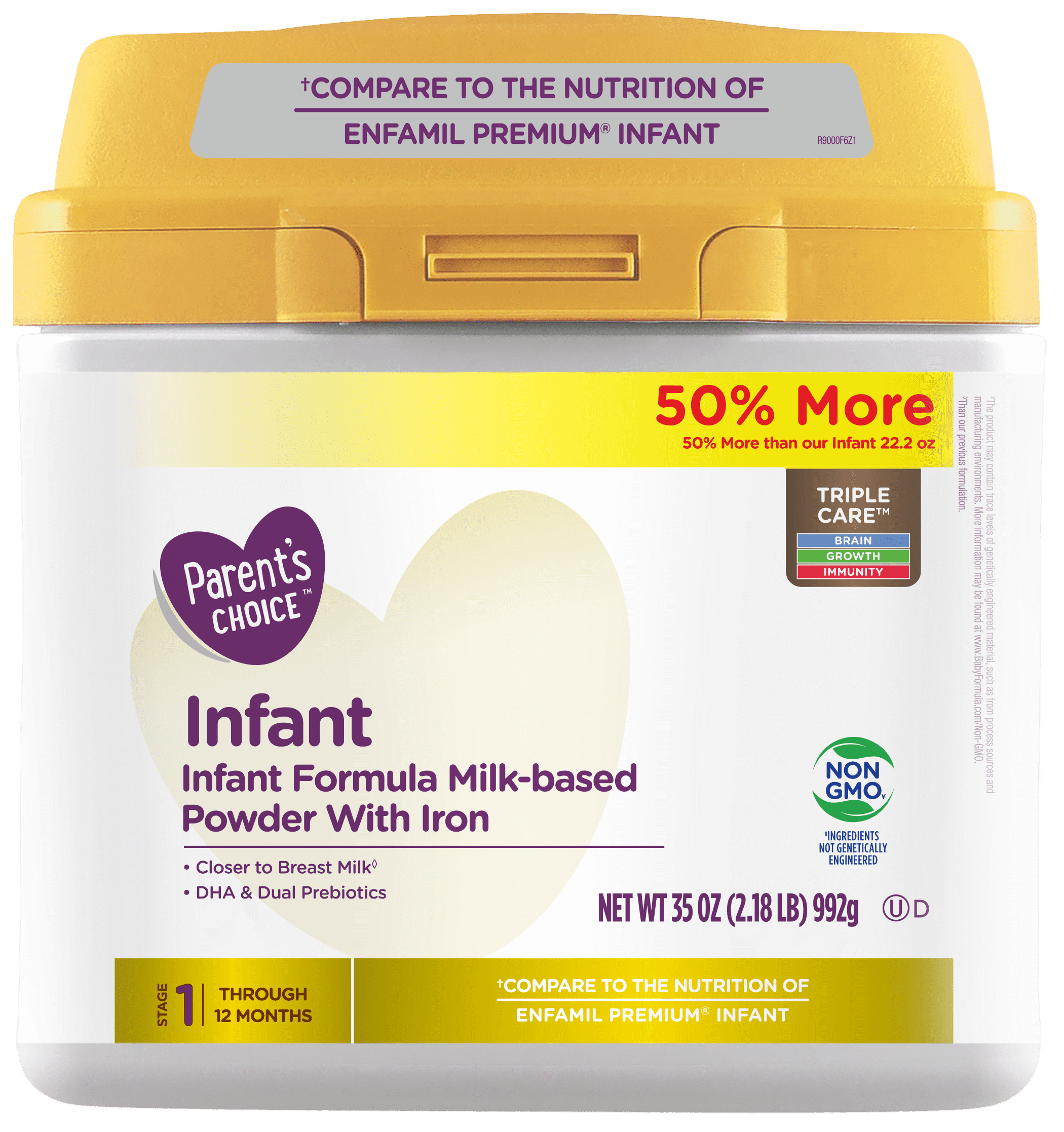 Parent s Choice Non GMO Premium Infant Formula with Iron 35 oz