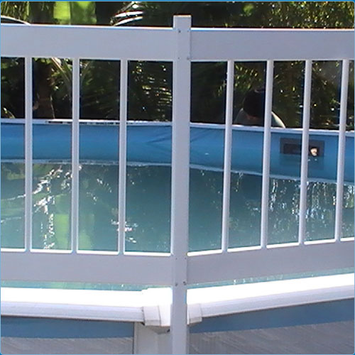 "Aboveground Swimming Pool Resin Safety Fence Base ""Kit A 8 Sections"" Color-White by"