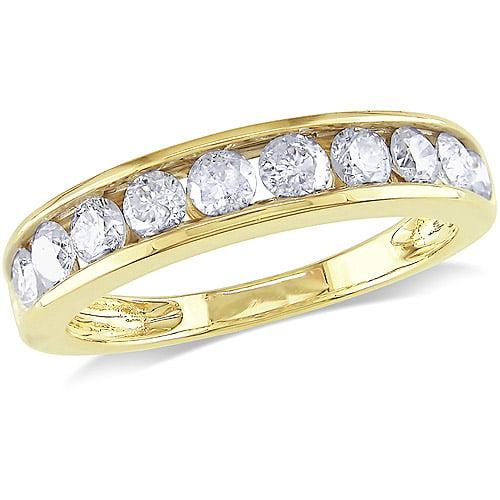 Miabella 1 Carat T.W. Diamond 14kt Yellow Gold Semi-Eternity Anniversary Ring