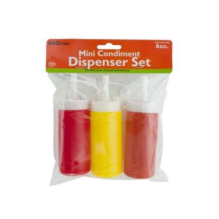 Kole Imports HH308-32 6 oz Mini Condiment Dispenser Set - Pack of 32