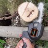 Anself 24V Mini 4-Inch Electric Pruning Saw Rechargeable Portable Electric Saws Woodworking One-handed Electric Saw Garden Logging Mini Electric Chain Saw