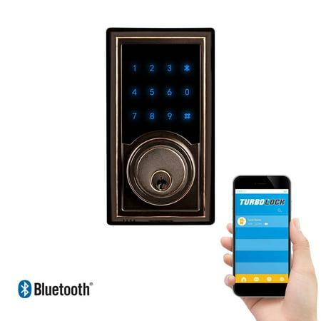 TurboLock TL-200 Smart Deadbolt Lock w/ Real-Time Monitoring & App: Use eKeys, Physical Keys, or Passcodes - Smart -