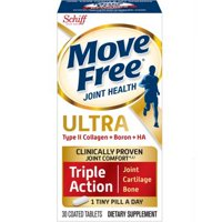 Move Free Ultra Triple Action Joint Supplement with Type II Collagen, Boron, and Hyaluronic Acid - 30 Tablets