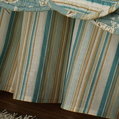 C and F Enterprises Natural Shells Stripe Coordinate Dust Ruffle
